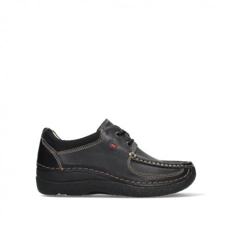 wolky veterschoenen 06216 roll shoe 30000 zwart leer