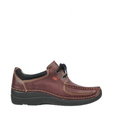 wolky veterschoenen 06216 roll shoe 30510 bordeaux leer