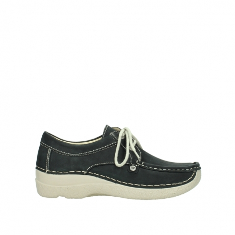 wolky chaussures a lacets 06286 seamy stroll 10070 nubuck noir