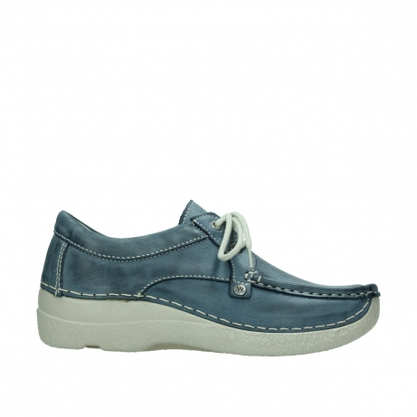 wolky lace up shoes 06286 seamy stroll 30870 blue leather