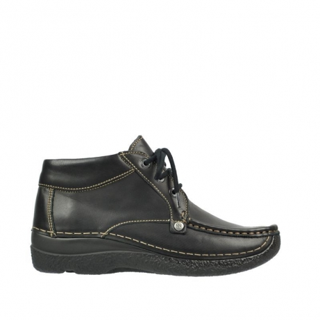 wolky chaussures a lacets 06287 seamy range 30000 cuir noir