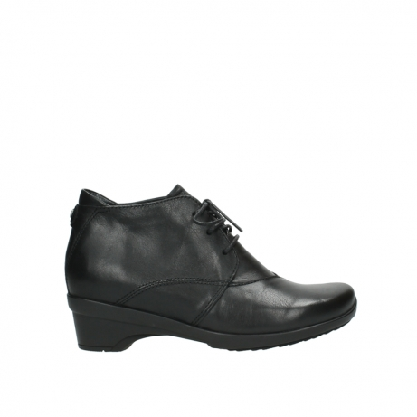 wolky lace up shoes 07653 montana 20000 black leather