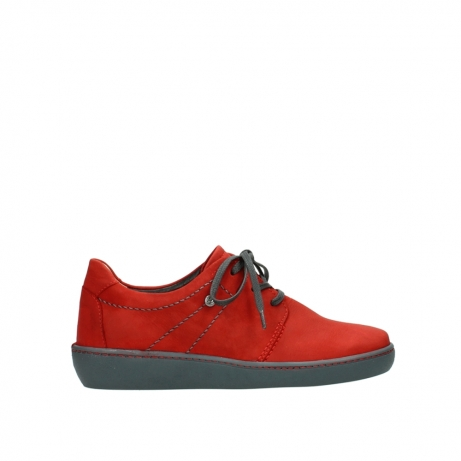 wolky lace up shoes 08125 artemis 50500 red oiled nubuck