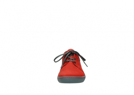 wolky chaussures a lacets 08125 artemis 50500 cuir rouge_19