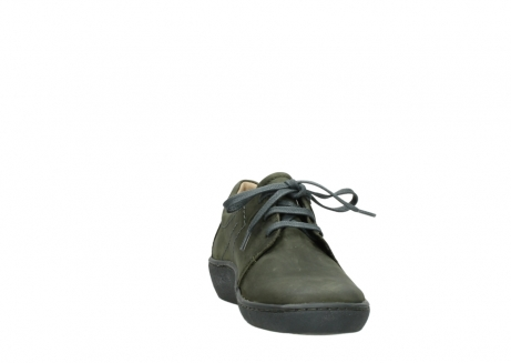 wolky lace up shoes 08125 artemis 50730 forest green oiled leather_18