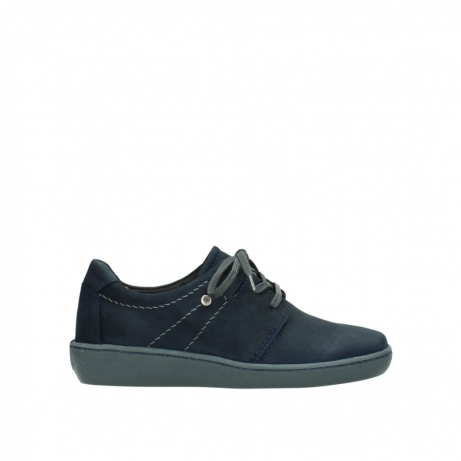 wolky lace up shoes 08125 artemis 50800 blue oiled nubuck