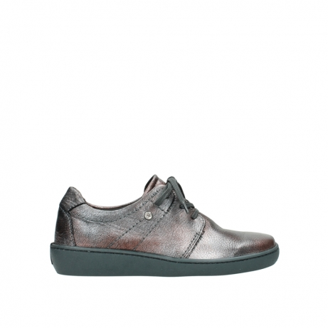 wolky lace up shoes 08125 artemis 90210 anthracite metallic leather