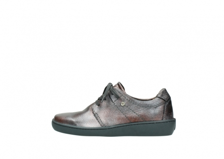 wolky lace up shoes 08125 artemis 90210 anthracite metallic leather_1