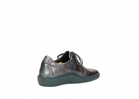 wolky lace up shoes 08125 artemis 90210 anthracite metallic leather_10
