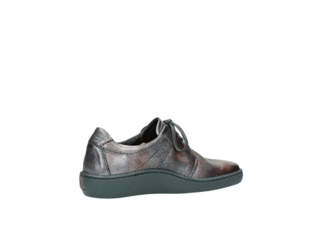 wolky lace up shoes 08125 artemis 90210 anthracite metallic leather_11