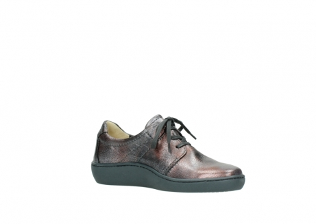 wolky lace up shoes 08125 artemis 90210 anthracite metallic leather_15