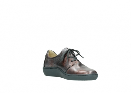 wolky lace up shoes 08125 artemis 90210 anthracite metallic leather_16