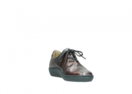wolky lace up shoes 08125 artemis 90210 anthracite metallic leather_17