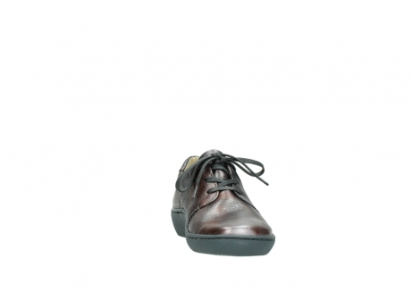 wolky lace up shoes 08125 artemis 90210 anthracite metallic leather_18