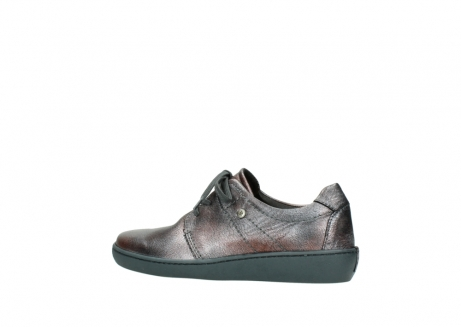 wolky lace up shoes 08125 artemis 90210 anthracite metallic leather_2