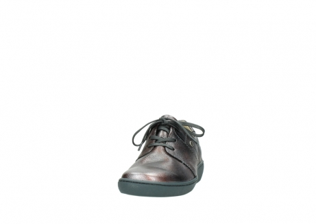 wolky lace up shoes 08125 artemis 90210 anthracite metallic leather_20