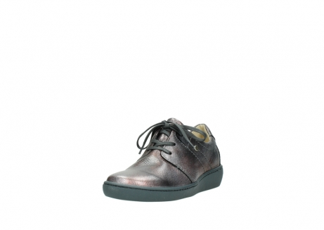 wolky lace up shoes 08125 artemis 90210 anthracite metallic leather_21