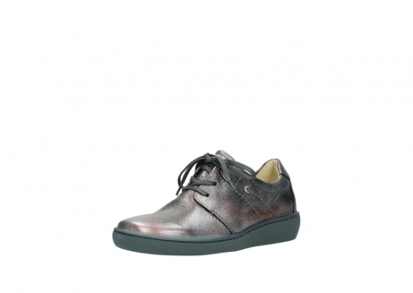 wolky lace up shoes 08125 artemis 90210 anthracite metallic leather_22