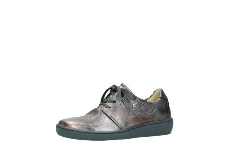 wolky lace up shoes 08125 artemis 90210 anthracite metallic leather_23