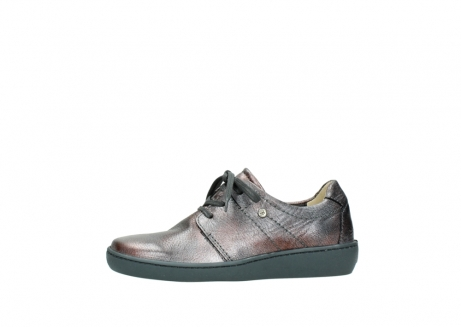 wolky lace up shoes 08125 artemis 90210 anthracite metallic leather_24