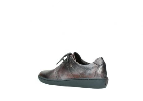wolky lace up shoes 08125 artemis 90210 anthracite metallic leather_3
