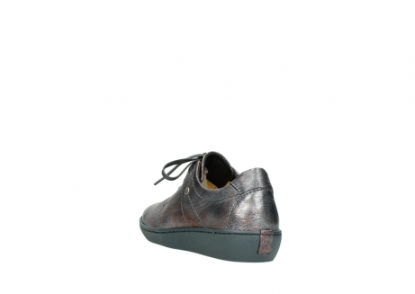 wolky lace up shoes 08125 artemis 90210 anthracite metallic leather_5