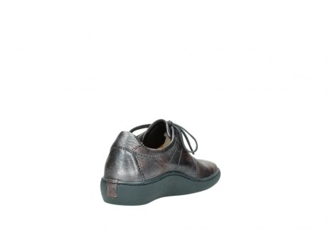 wolky lace up shoes 08125 artemis 90210 anthracite metallic leather_9