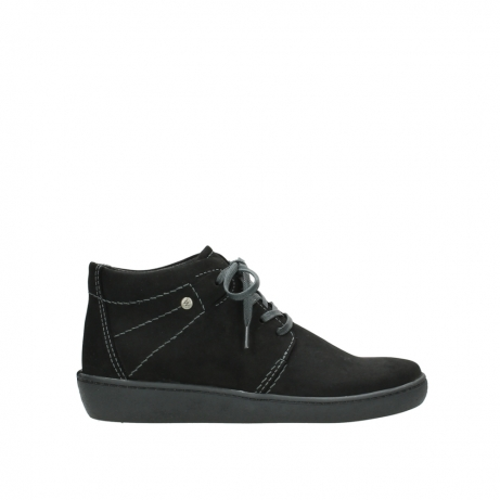 wolky chaussures a lacets 08126 babylon 50000 nubuck noir