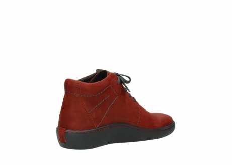 wolky lace up shoes 08126 babylon 50540 winter red oiled leather_10