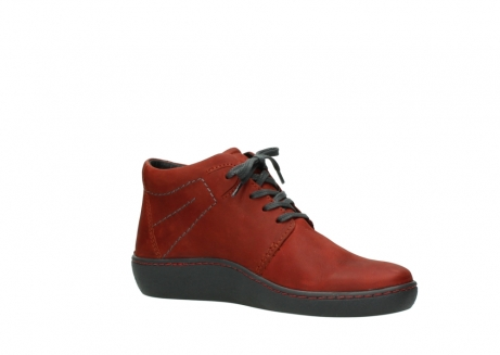 wolky lace up shoes 08126 babylon 50540 winter red oiled leather_15