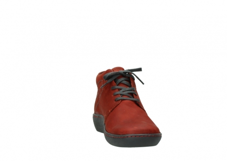 wolky lace up shoes 08126 babylon 50540 winter red oiled leather_18