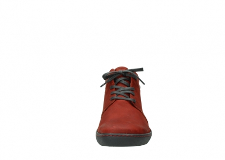 wolky lace up shoes 08126 babylon 50540 winter red oiled leather_19