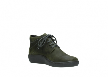 wolky lace up shoes 08126 babylon 50730 forest green oiled leather_16