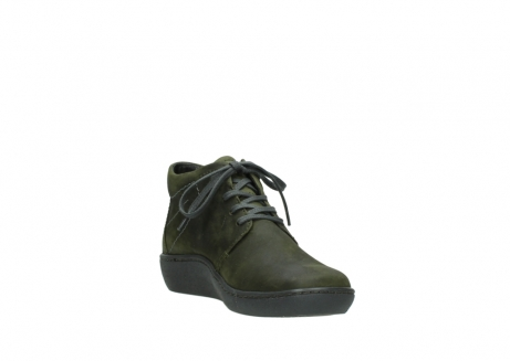 wolky lace up shoes 08126 babylon 50730 forest green oiled leather_17