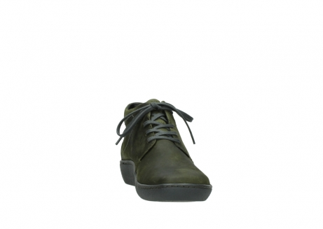 wolky lace up shoes 08126 babylon 50730 forest green oiled leather_18