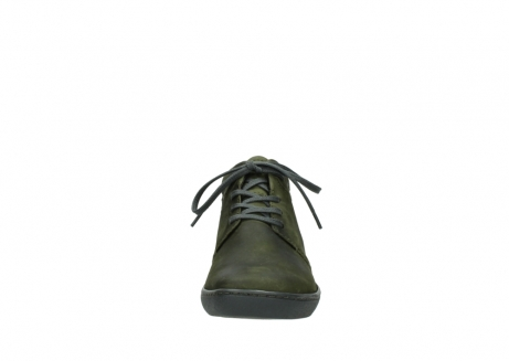 wolky lace up shoes 08126 babylon 50730 forest green oiled leather_19
