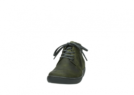 wolky lace up shoes 08126 babylon 50730 forest green oiled leather_20
