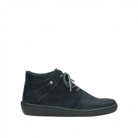 wolky lace up shoes 08126 babylon 50800 dark blue oiled nubuck
