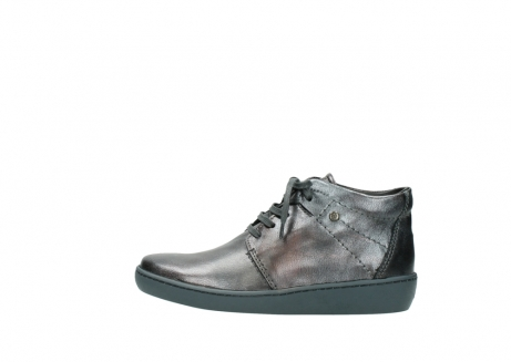 wolky veterschoenen 08126 babylon 90210 antraciet metallic leer_1