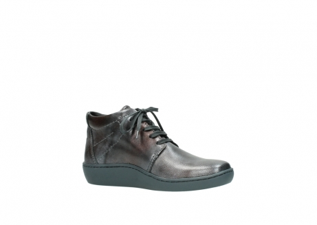 wolky veterschoenen 08126 babylon 90210 antraciet metallic leer_15