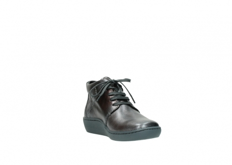 wolky veterschoenen 08126 babylon 90210 antraciet metallic leer_17