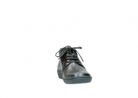 wolky veterschoenen 08126 babylon 90210 antraciet metallic leer_18