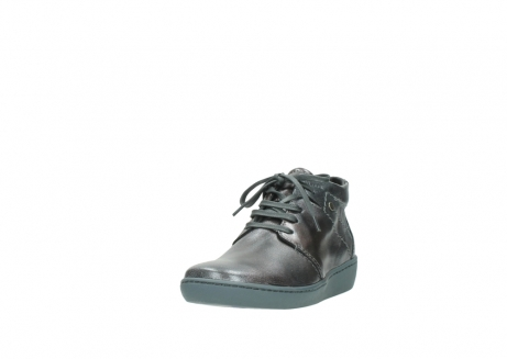 wolky veterschoenen 08126 babylon 90210 antraciet metallic leer_21