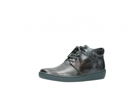 wolky veterschoenen 08126 babylon 90210 antraciet metallic leer_23