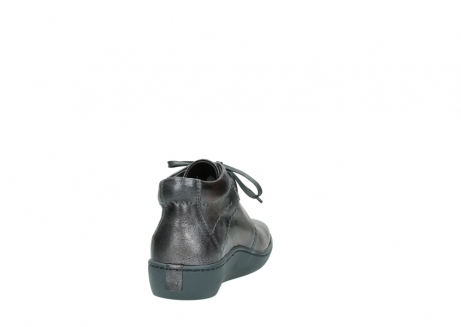 wolky veterschoenen 08126 babylon 90210 antraciet metallic leer_8