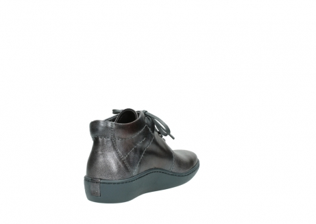 wolky veterschoenen 08126 babylon 90210 antraciet metallic leer_9