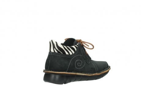 wolky chaussures a lacets 08384 gallo 10070 cuir noir zebre_10