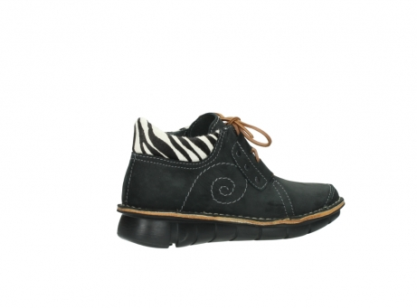wolky chaussures a lacets 08384 gallo 10070 cuir noir zebre_11