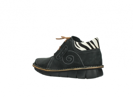 wolky chaussures a lacets 08384 gallo 10070 cuir noir zebre_3