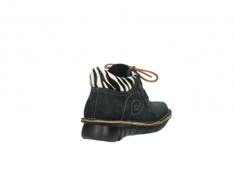 wolky chaussures a lacets 08384 gallo 10070 cuir noir zebre_9